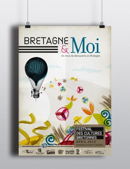 Communication du festival des Cultures Bretonnes Bretagne & Moi
