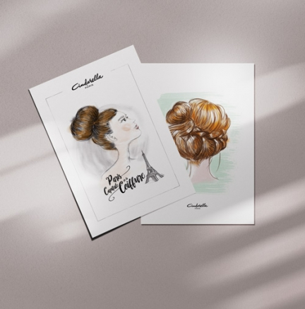 Illustrations pour poster, totebag, cartes com
